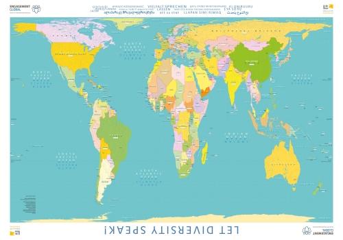 Weltkarte Vielfalt sprechen lassen