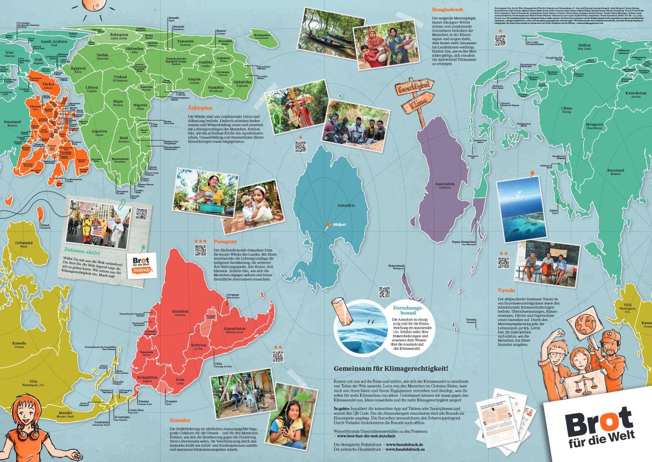 Weltkarte Klimagerechtigkeit